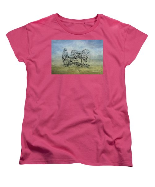 Civil War Cannon Sketch  Women's T-Shirt (Standard Cut) by Randy Steele