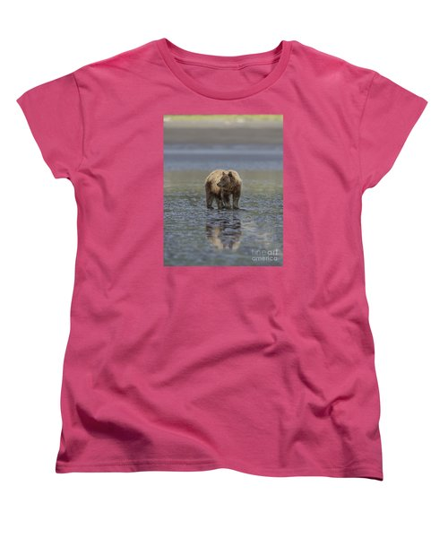 Women's T-Shirt (Standard Cut) featuring the photograph Clamming The Day Away by Sandra Bronstein
