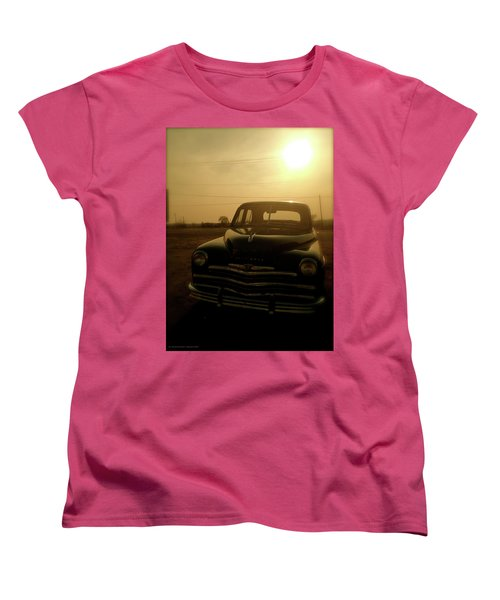 Women's T-Shirt (Standard Cut) featuring the photograph Classic America, Eight by Iconic Images Art Gallery David Pucciarelli