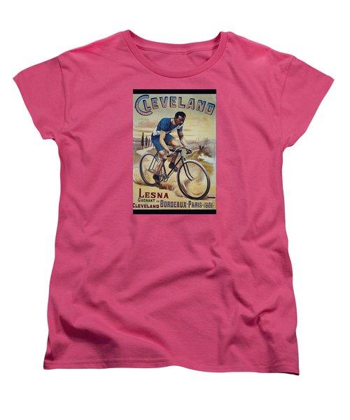 Cleveland Lesna Cleveland Gagnant Bordeaux Paris 1901 Vintage Cycle Poster Women's T-Shirt (Standard Cut) by R Muirhead Art