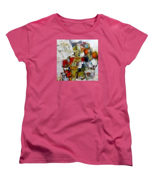 Women's T-Shirt (Standard Cut) featuring the painting Clever Clogs by Katie Black