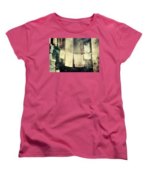 Clothes Hanging Women's T-Shirt (Standard Cut) by Vittorio Chiampan