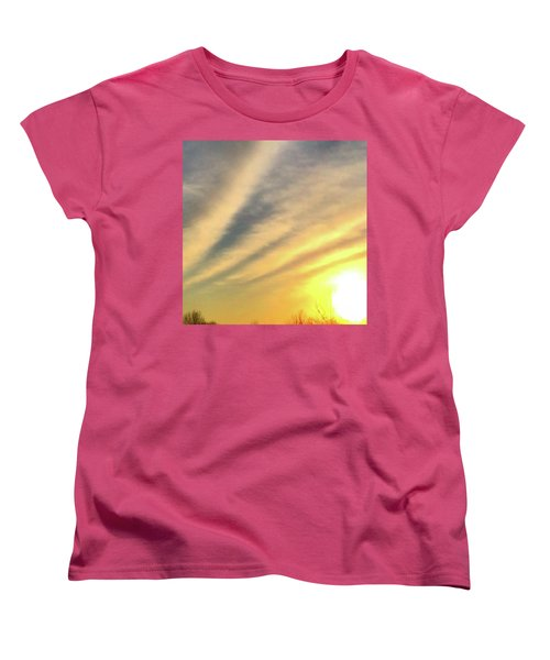 Women's T-Shirt (Standard Cut) featuring the photograph Clouds And Sun by Sumoflam Photography