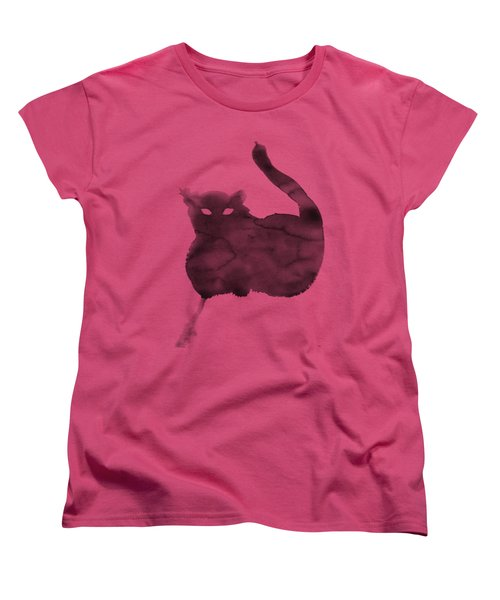 Cloudy Cat Women's T-Shirt (Standard Cut) by Marc Philippe Joly