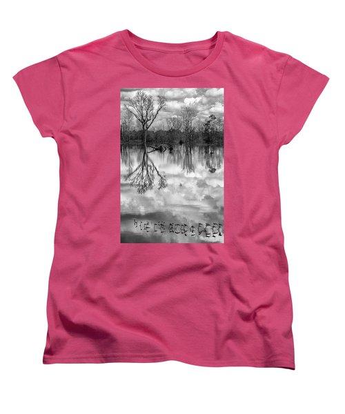 Cloudy Reflection Women's T-Shirt (Standard Cut) by Hitendra SINKAR