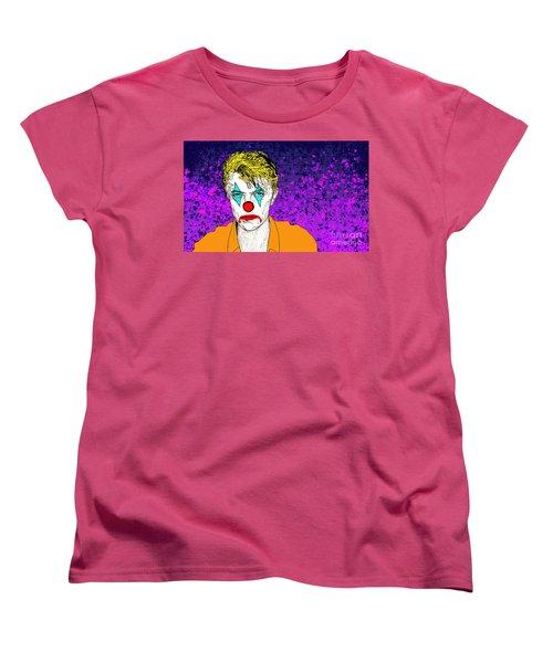 Clown David Bowie Women's T-Shirt (Standard Cut) by Jason Tricktop Matthews