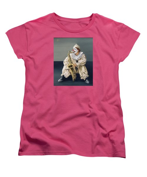 Women's T-Shirt (Standard Cut) featuring the painting Clown by Natalia Tejera