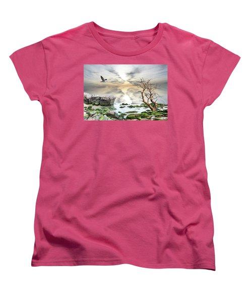 Women's T-Shirt (Standard Cut) featuring the photograph Coastal Landscape  by Angel Jesus De la Fuente