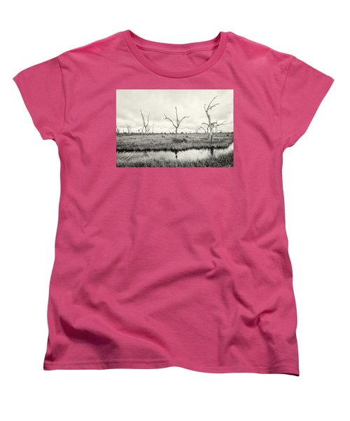 Women's T-Shirt (Standard Cut) featuring the photograph Coastal Skeletons by Andy Crawford