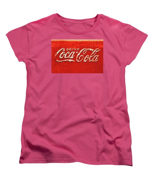 Coca Cola Rustic Women's T-Shirt (Standard Cut) by Stephen Anderson