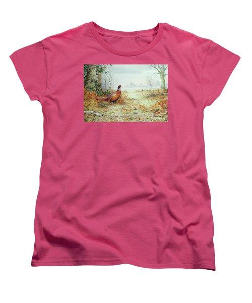 Cock Pheasant  Women's T-Shirt (Standard Cut) by Carl Donner