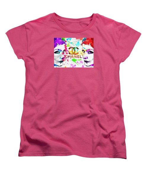 Coco Chanel Grunge Women's T-Shirt (Standard Cut) by Daniel Janda