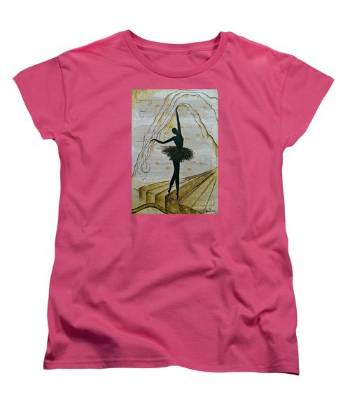 Coffee Ballerina Women's T-Shirt (Standard Cut)