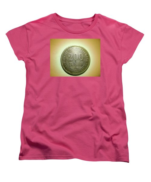 Women's T-Shirt (Standard Cut) featuring the photograph Coin Series - Brazil by Beto Machado