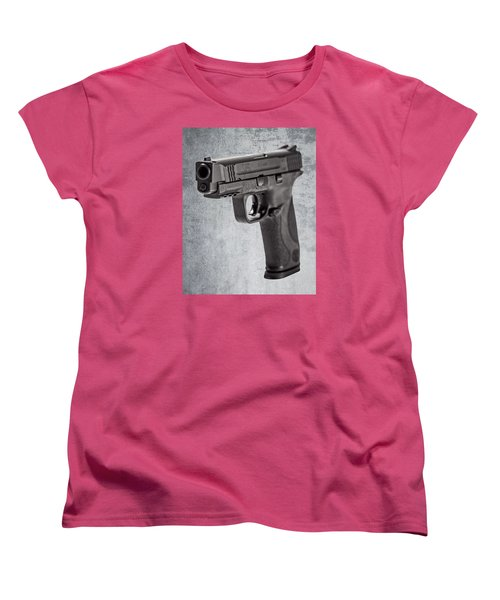 Women's T-Shirt (Standard Cut) featuring the photograph Cold, Blue Steel by Andy Crawford
