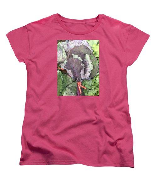 Collard Greens Portland Farmers Market 2015 Women's T-Shirt (Standard Cut) by Patricia E Sundik