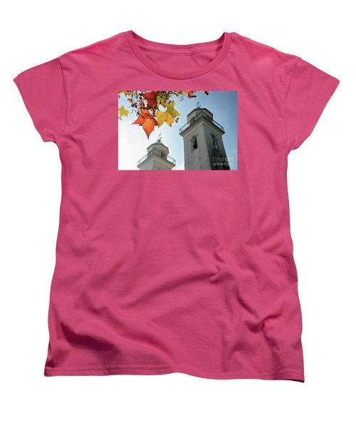Women's T-Shirt (Standard Cut) featuring the photograph Colonia Del Sacramento Church by Bernardo Galmarini