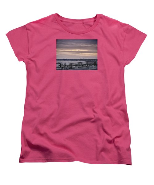 Women's T-Shirt (Standard Cut) featuring the photograph Colonial Beach Virginia Waterfront   by Melissa Messick