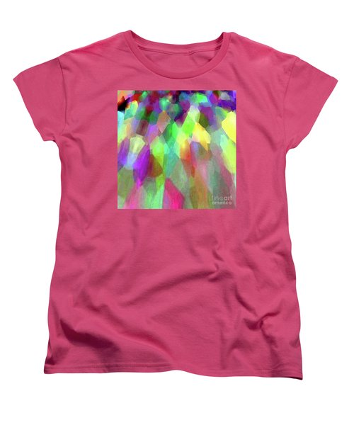 Color Abstract Women's T-Shirt (Standard Cut) by Wernher Krutein