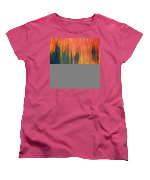 Women's T-Shirt (Standard Cut) featuring the digital art Color Abstraction L Sq by David Gordon