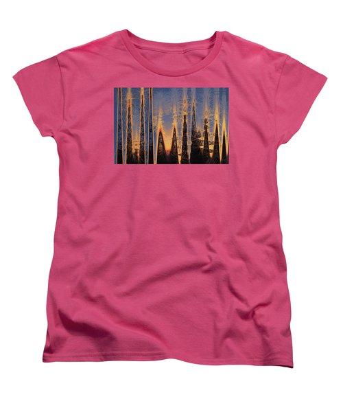 Color Abstraction Xl Women's T-Shirt (Standard Cut) by David Gordon
