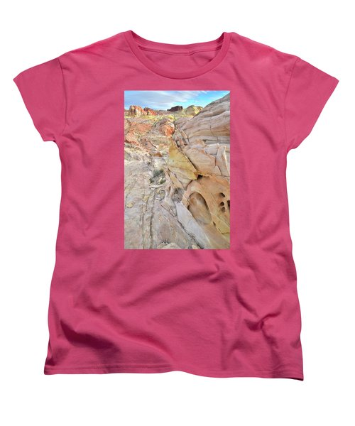 Color At Valley Of Fire State Park Women's T-Shirt (Standard Cut) by Ray Mathis