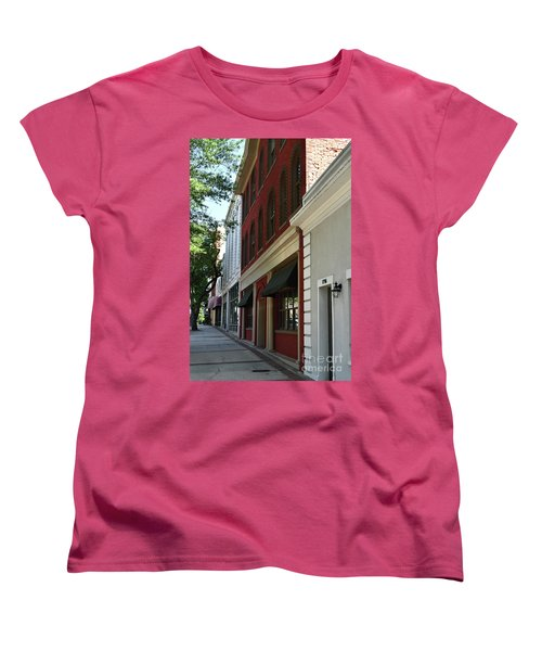 Women's T-Shirt (Standard Cut) featuring the photograph Color Me Main St Usa by Skip Willits