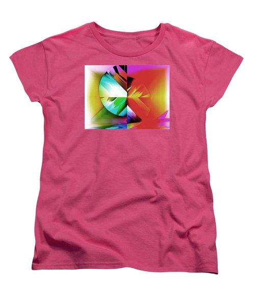 Color Of The Fractal Women's T-Shirt (Standard Cut) by Mario Carini