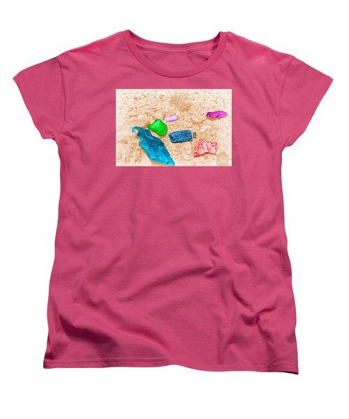 Women's T-Shirt (Standard Cut) featuring the digital art Colored Rocks 1 by Bartz Johnson