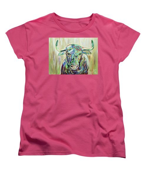 Colorful Bull Women's T-Shirt (Standard Cut) by Jeanne Forsythe