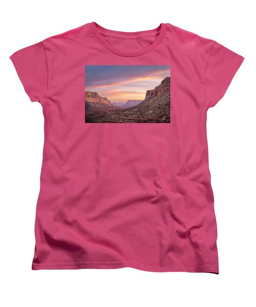 Colorful Havasupai Hike Women's T-Shirt (Standard Cut) by Serge Skiba