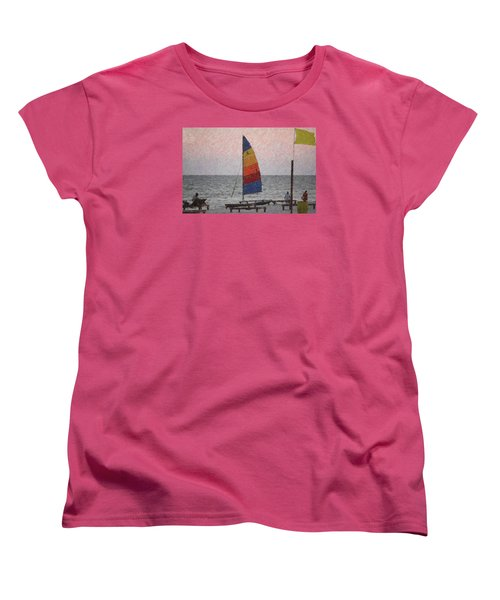 Colorful Sails Women's T-Shirt (Standard Cut) by Donna G  Smith