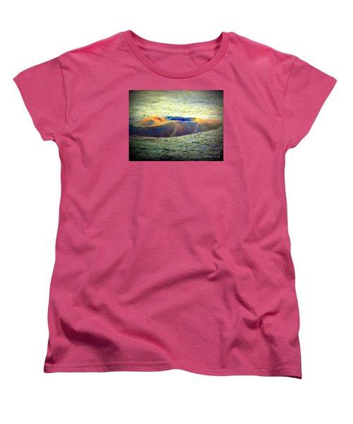 Colorful Volcanic Ash Women's T-Shirt (Standard Cut) by John Potts