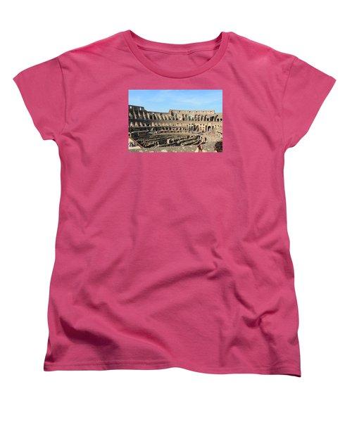 Colosseum Inside Women's T-Shirt (Standard Cut) by Kaitlin McQueen