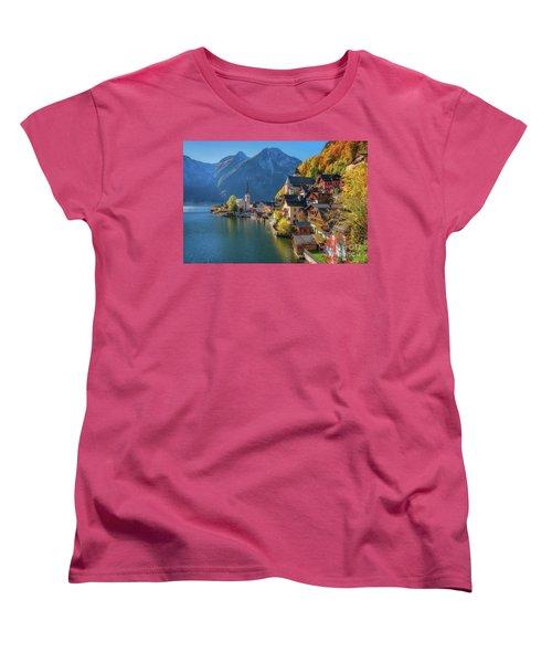 Colourful Hallstatt Women's T-Shirt (Standard Cut) by JR Photography