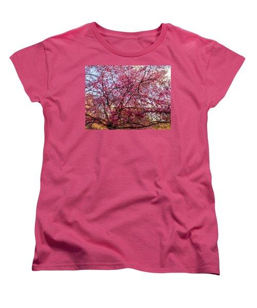 Columnar Sargent Cherry 1 Women's T-Shirt (Standard Cut) by Bernhart Hochleitner