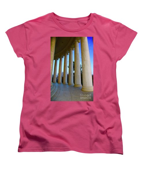 Columns At Jefferson Women's T-Shirt (Standard Cut) by Megan Cohen