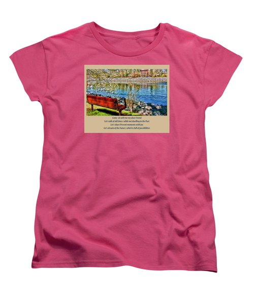 Women's T-Shirt (Standard Cut) featuring the photograph Come, Sit With Me My Dear Friend by Rhonda McDougall