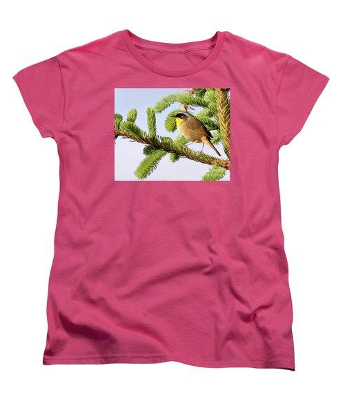 Common Yellow-throat Women's T-Shirt (Standard Cut) by Debbie Stahre