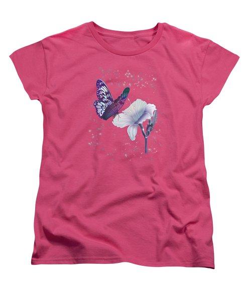 Contemporary Painting Of A Dancing Butterfly  Women's T-Shirt (Standard Cut) by Regina Femrite