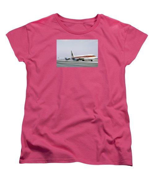 Continental Airlines 720-024b N17207 Los Angeles July 22 1972 Women's T-Shirt (Standard Cut) by Brian Lockett
