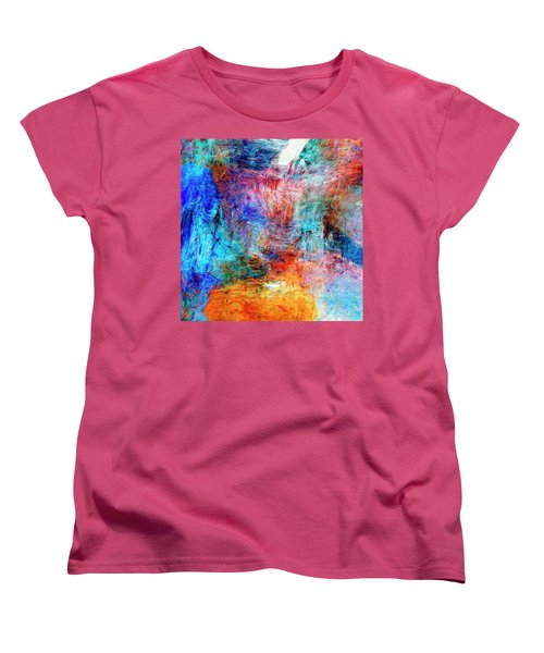 Women's T-Shirt (Standard Cut) featuring the painting Convergence by Dominic Piperata