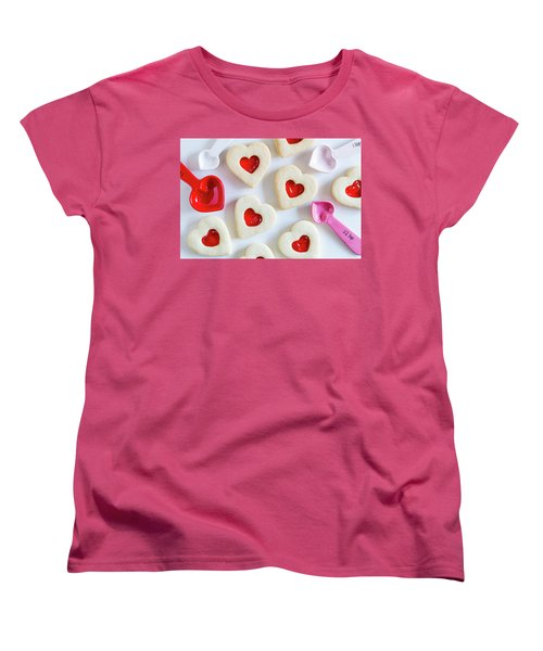 Women's T-Shirt (Standard Cut) featuring the photograph Cookie Baking Love by Teri Virbickis