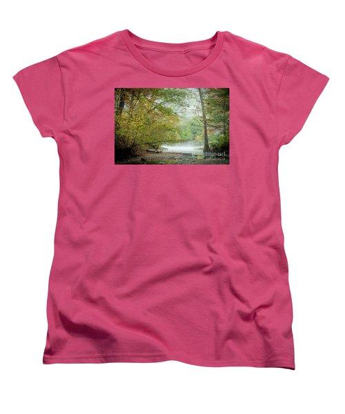 Women's T-Shirt (Standard Cut) featuring the photograph Cool Morning by Iris Greenwell