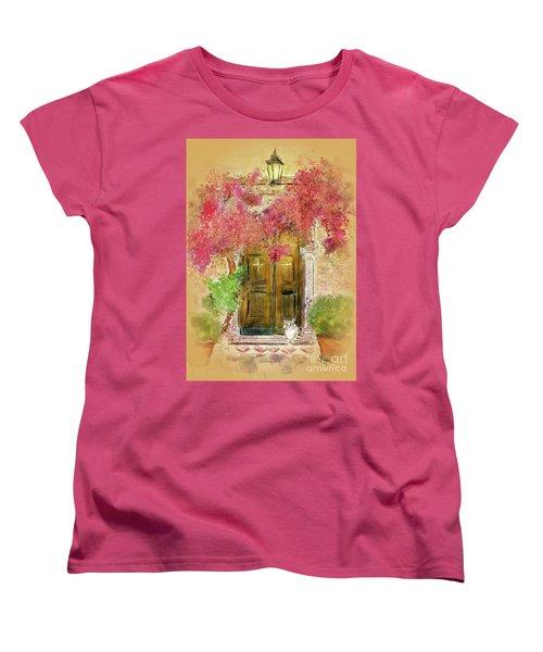 Women's T-Shirt (Standard Cut) featuring the digital art Corfu Kitty by Lois Bryan