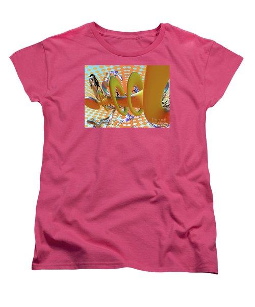 Corkscrew Women's T-Shirt (Standard Cut) by Melissa Messick