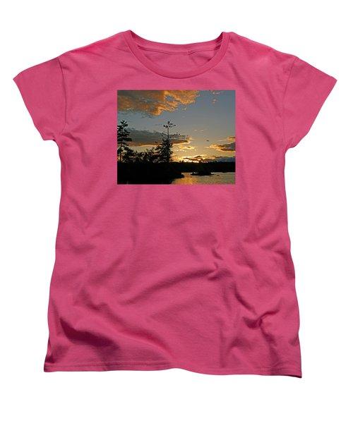 Women's T-Shirt (Standard Cut) featuring the photograph Cormorant Tree by Lynda Lehmann