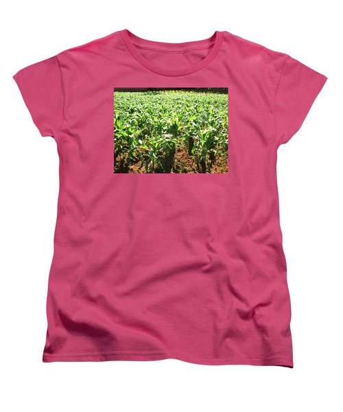 Women's T-Shirt (Standard Cut) featuring the photograph Corn Island by Beto Machado