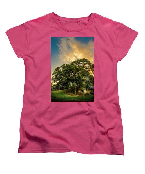 Women's T-Shirt (Standard Cut) featuring the photograph Corner Oak by Marvin Spates