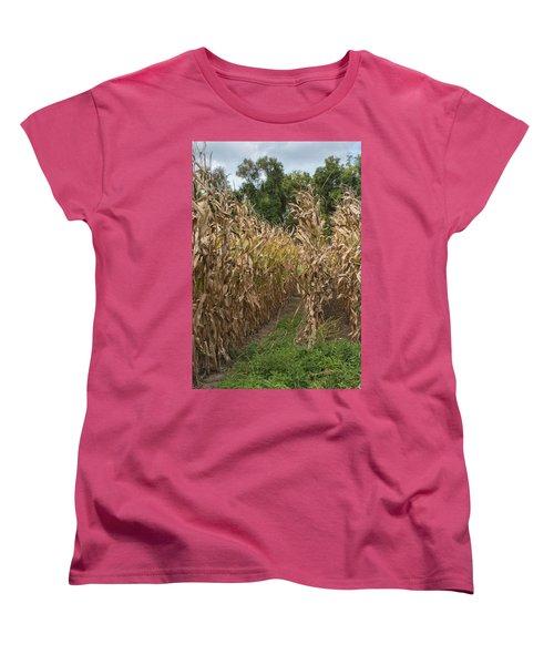 Cornstalks Women's T-Shirt (Standard Cut) by Arlene Carmel